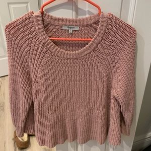 Madewell pink sweater - M